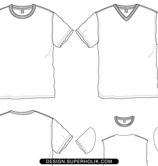 Fashion design templates, Vector illustrations and Clip-artsT-shirt ...