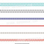 seamless stitch, trim pattern brushes