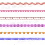 seamless stitch, trim pattern brushes