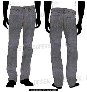 Denim Pants template