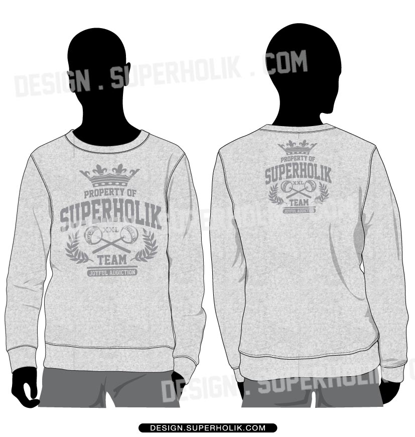 Sweat shirt template