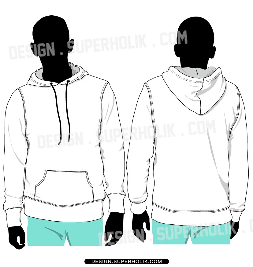Fashion design templates vector illustrations and clip pullover vector template pullover vector body hoodie pronofoot35fo Choice Image