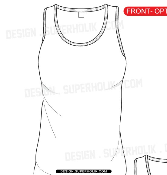 Women's Tank Top template