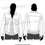 Denim jacket template