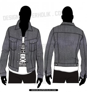 Denim jacket template
