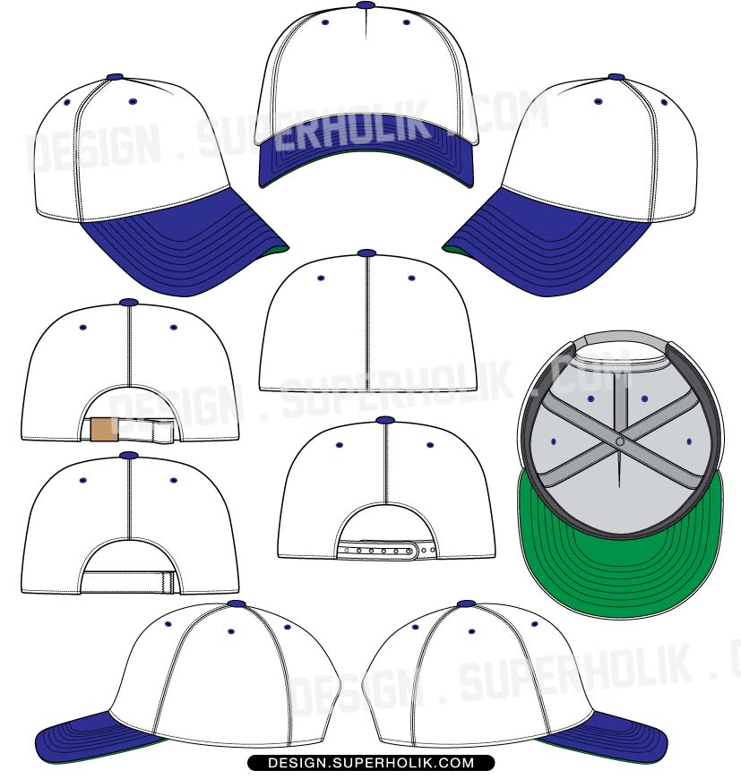 fashion design templates vector illustrations and clip artscap template hat template snapback. Black Bedroom Furniture Sets. Home Design Ideas