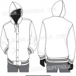 hooded varsity jacket vector