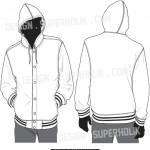 hooded varsity jacket vector