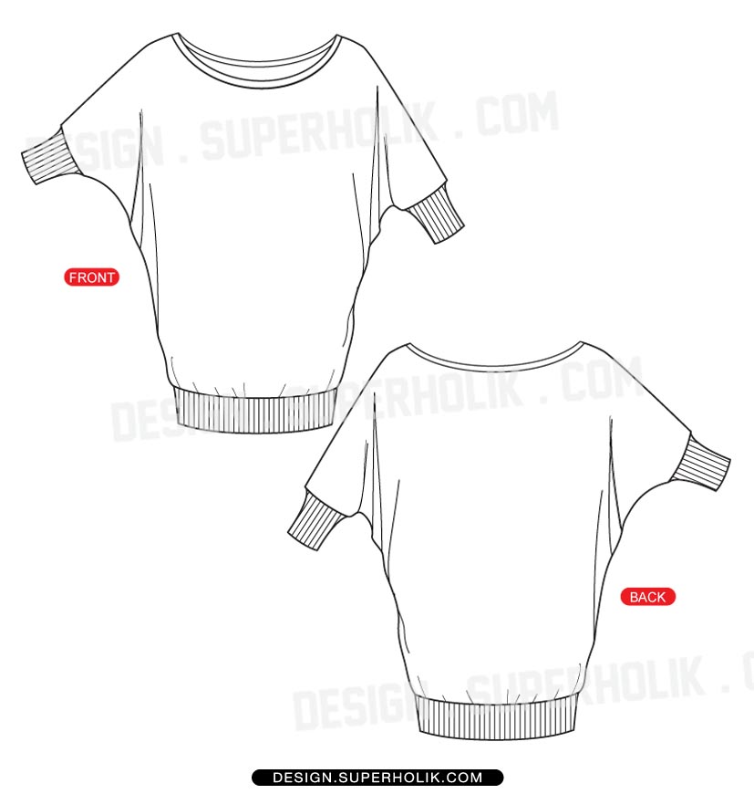 fashion t-shirt template
