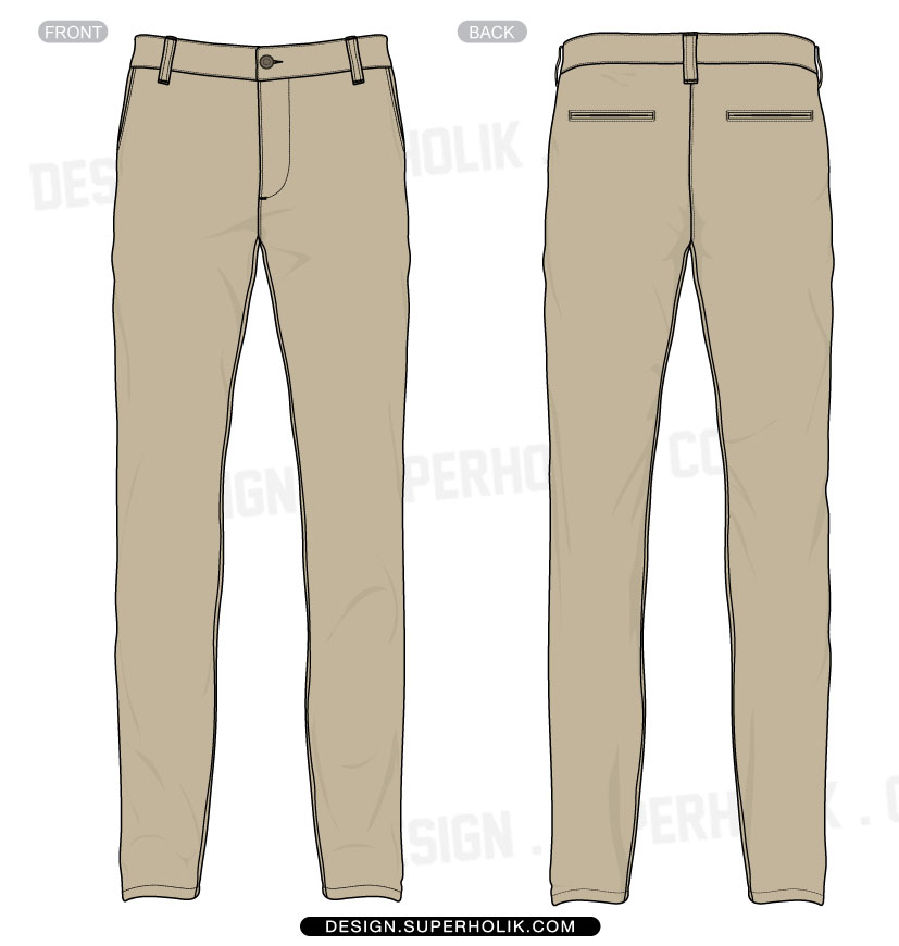 trouser pants template