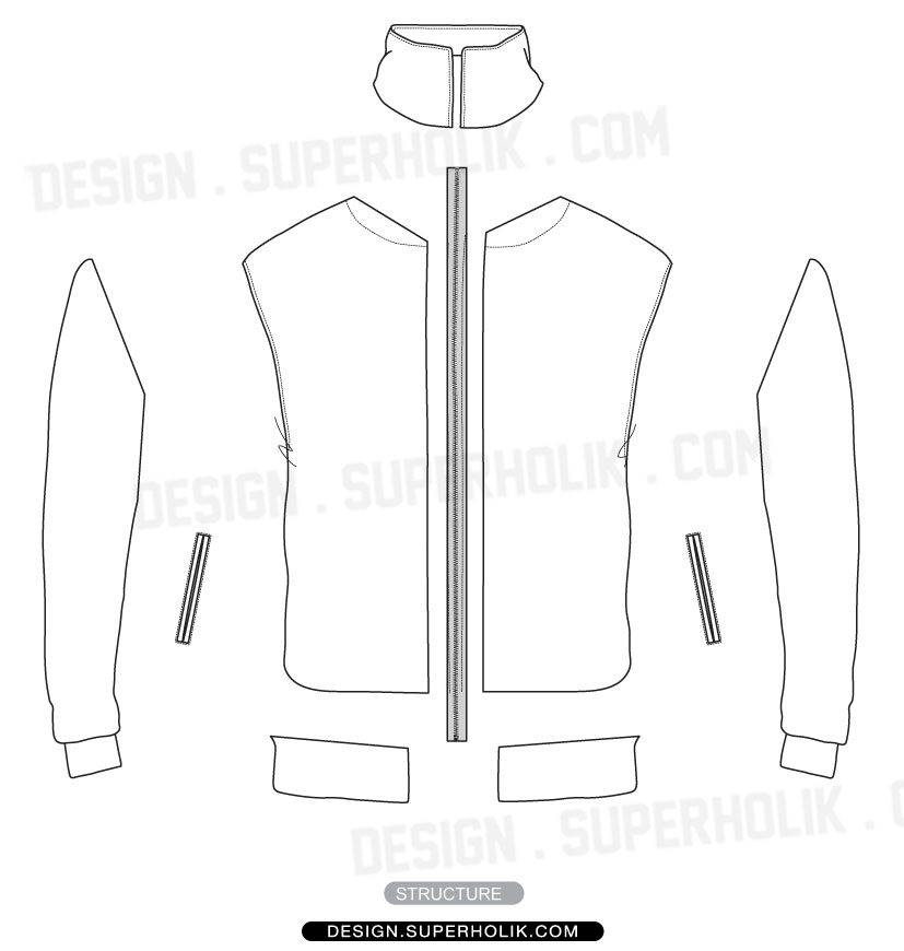 Track Jacket Template | hellovector