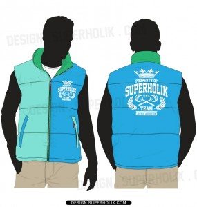 Vest template vector