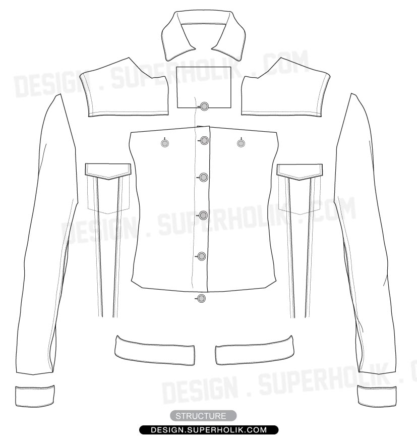 Fashion Design Template | Fashion Design Templates Vector Illustrations And Clip Artsdenim