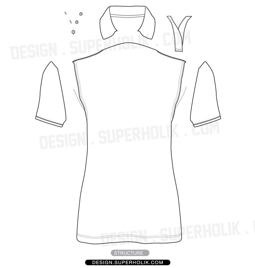 Polo shirt template vector hellovector for Polo shirt design template