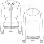 Blank hoodie template