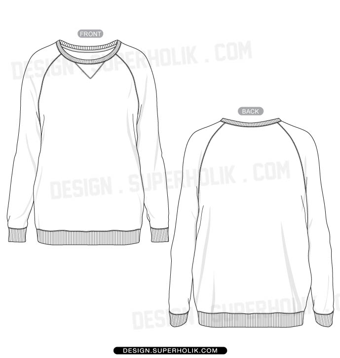 Sweatshirt Template Design
