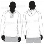 Hooded long sleeve shirt