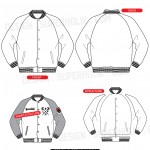 varsity jacket vector template