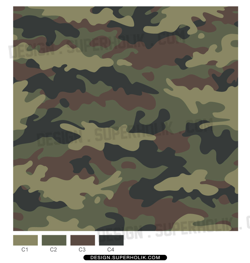 ... Camouflage pattern - fashion vector body