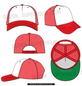 Trucker hat template