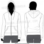 Zip-up hoodie template-Women