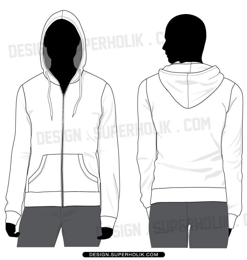 Zip up hoodie template