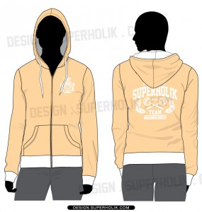 Women's Zip-up Hoodie Template