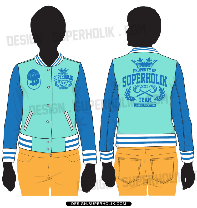 Varsity jacket vector