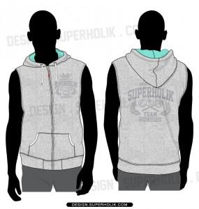Sleeveless hoodie template