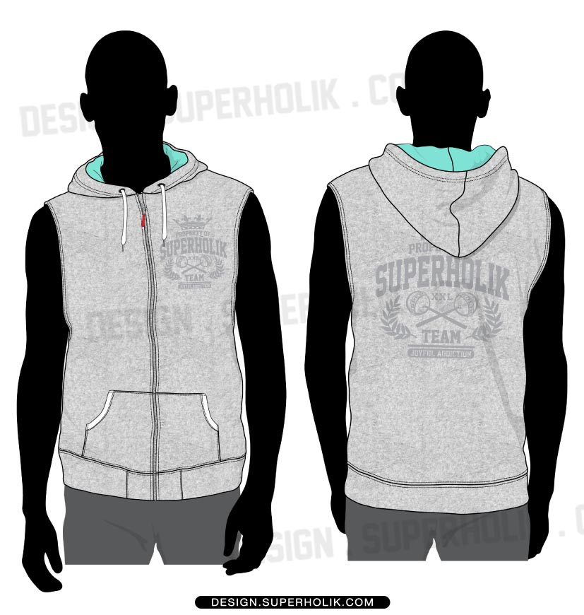 Fashion design templates vector illustrations and clip artsvector sleeveless hoodie template pronofoot35fo Images