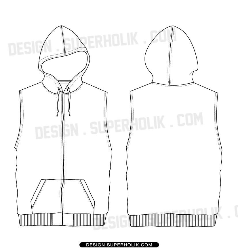 Fashion design templates vector illustrations and clip sleeveless hoodie sleeveless hoodie sleeveless hoodie pronofoot35fo Images