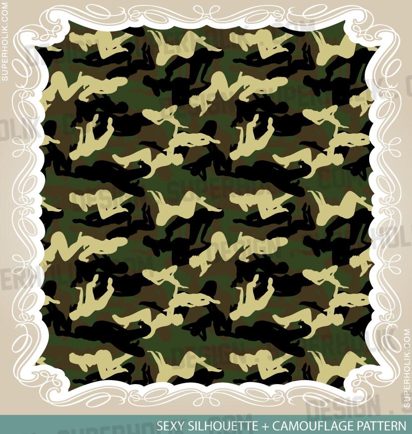 Camouflage pattern - women silhouette