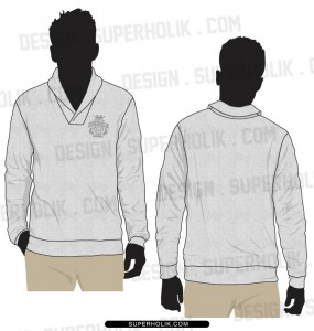 shawl collar sweater template