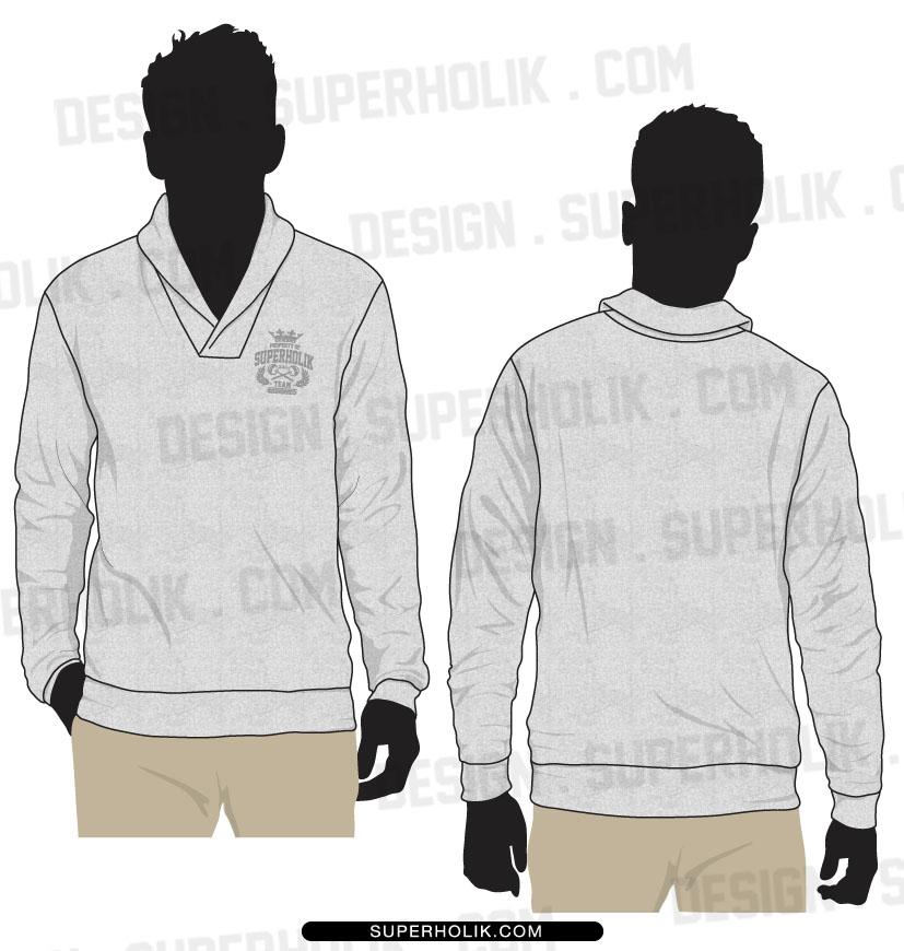 shawl collar sweater template