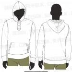 hooded shirt template henley neck