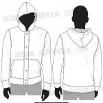 Button down hoodie template