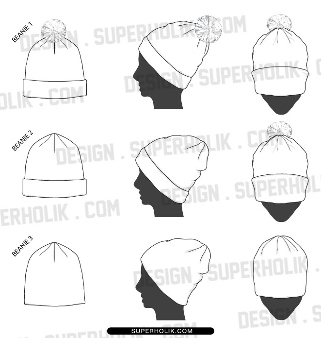 Beanie Template on gear template clip art