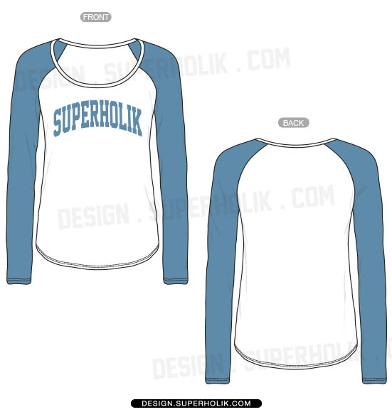 Raglan shirt template