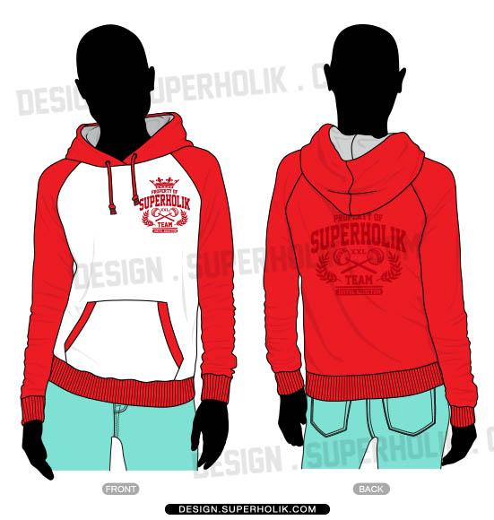 Raglan hoodie template