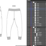 Jogger pants template set